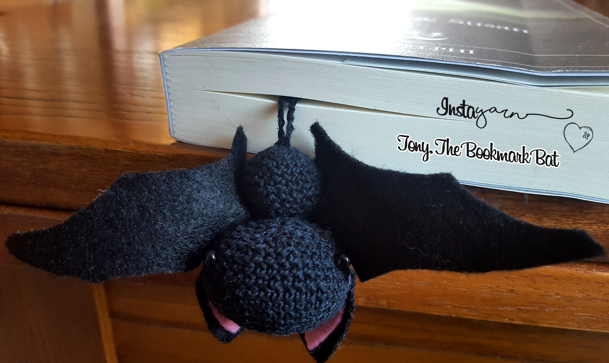 Tony, the Amigurumi Bookmark Bat (US Terms)