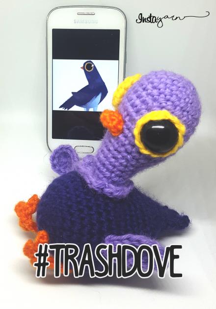 TrashDove, il Piccione Social – Schema Amigurumi
