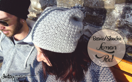 Lemon Peel Slouchie/Beanie – Crochet Pattern (US Terms)